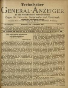 Technischer General-Anzeiger für den Oberschlesischen Industrie-Bezirk, 1907, Jg. 13, No. 23