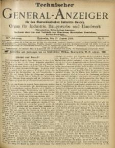 Technischer General-Anzeiger für den Oberschlesischen Industrie-Bezirk, 1908, Jg. 14, No. 8