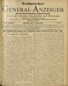 Technischer General-Anzeiger für den Oberschlesischen Industrie-Bezirk, 1908, Jg. 14, No. 21