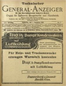 Technischer General-Anzeiger für den Oberschlesischen Industrie-Bezirk, 1912, Jg. 19, No. 5
