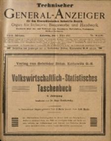 Technischer General-Anzeiger für den Oberschlesischen Industrie-Bezirk, 1917, Jg. 23, No. 10/11/12