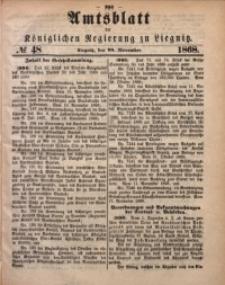 Amts-Blatt der Königlichen Regierung zu Liegnitz, 1868, Jg. 58, No. 48