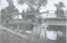 Brzeżany. Naprawa wiaduktu kolejowego na drodze z Brzeżan do Lwowa, przed 1916 r.
