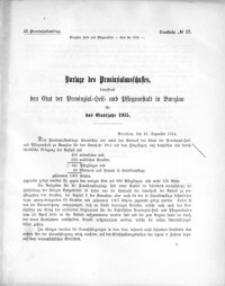 53. Provinziallandtag, Drucksache No. 17