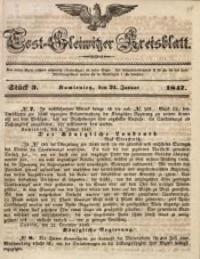 Tost-Gleiwitzer Kreisblatt, 1847, Jg. 5, St. 3