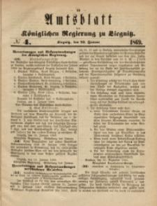Amts-Blatt der Königlichen Regierung zu Liegnitz, 1869, Jg. 59, No. 4