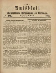 Amts-Blatt der Königlichen Regierung zu Liegnitz, 1869, Jg. 59, No. 16
