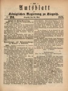 Amts-Blatt der Königlichen Regierung zu Liegnitz, 1870, Jg. 60, No. 21