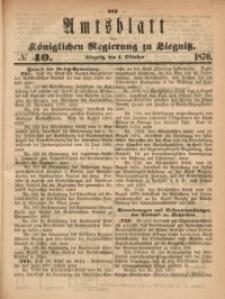 Amts-Blatt der Königlichen Regierung zu Liegnitz, 1870, Jg. 60, No. 40