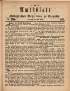 Amts-Blatt der Königlichen Regierung zu Liegnitz, 1871, Jg. 61, No. 28