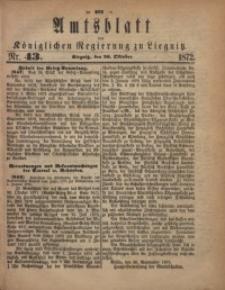 Amts-Blatt der Königlichen Regierung zu Liegnitz, 1872, Jg. 62, No. 43