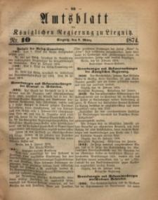Amts-Blatt der Königlichen Regierung zu Liegnitz, 1874, Jg. 64, Nr. 10