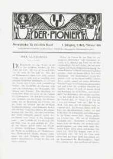 Der Pionier. Monatsblätter für Christliche Kunst. Jg. 1, h. 5.