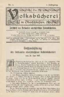 Die Volksbücherei in Oberschlesien, 1907, Jg. 1, Nr. 5