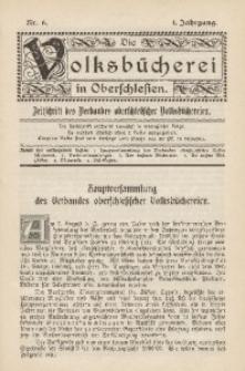 Die Volksbücherei in Oberschlesien, 1907, Jg. 1, Nr. 6