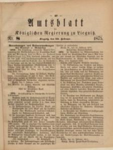 Amts-Blatt der Königlichen Regierung zu Liegnitz, 1875, Jg. 65, Nr. 8