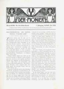 Der Pionier. Monatsblätter für Christliche Kunst. Jg. 1, h. 10.