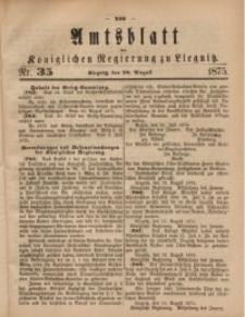 Amts-Blatt der Königlichen Regierung zu Liegnitz, 1875, Jg. 65, Nr. 35