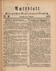 Amts-Blatt der Königlichen Regierung zu Liegnitz, 1876, Jg. 66, Nr. 2