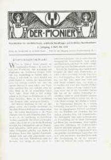 Der Pionier. Monatsblätter für Christliche Kunst. Jg. 2, h. 8.