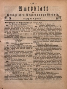 Amts-Blatt der Königlichen Regierung zu Liegnitz, 1877, Jg. 67, Nr. 5