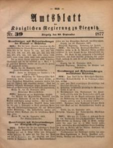 Amts-Blatt der Königlichen Regierung zu Liegnitz, 1877, Jg. 67, Nr. 39
