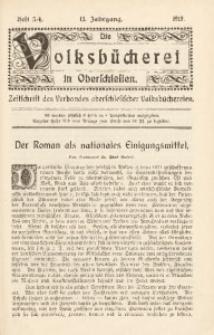 Die Volksbücherei in Oberschlesien, 1919, Jg. 13, Heft 3/4