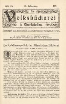 Die Volksbücherei in Oberschlesien, 1919, Jg. 13, Heft 5/6