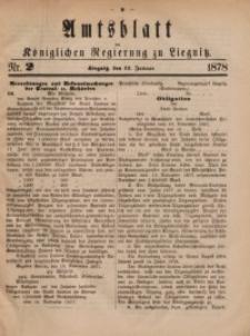 Amts-Blatt der Königlichen Regierung zu Liegnitz, 1878, Jg. 68, Nr. 2