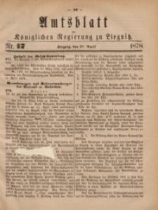 Amts-Blatt der Königlichen Regierung zu Liegnitz, 1878, Jg. 68, Nr. 17