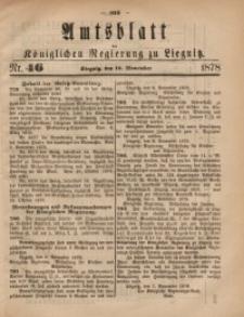 Amts-Blatt der Königlichen Regierung zu Liegnitz, 1878, Jg. 68, Nr. 46