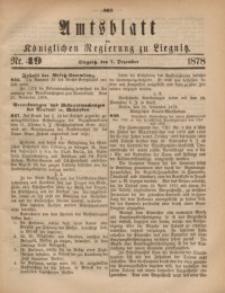 Amts-Blatt der Königlichen Regierung zu Liegnitz, 1878, Jg. 68, Nr. 49