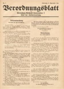 Verordnungsblatt des Grenzschutz-Abschnittskommandos 3, Chef der Zivilverwaltung, 1939, Nr. 7