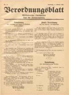 Verordnungsblatt des Militärbereichs Oberschlesien, Chef der Zivilverwaltung, 1939, Nr. 16