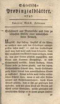 Schlesische Provinzialblätter, 1797, 25. Bd., 2. St.: Februar