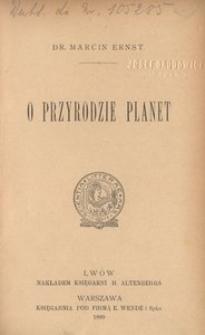 O przyrodzie planet