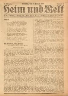 Heim und Welt, 1927, Jg. 12, Nr. 1