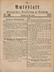 Amts-Blatt der Königlichen Regierung zu Liegnitz, 1879, Jg. 69, Nr. 17
