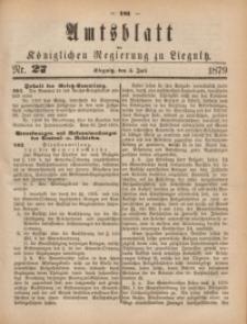 Amts-Blatt der Königlichen Regierung zu Liegnitz, 1879, Jg. 69, Nr. 27