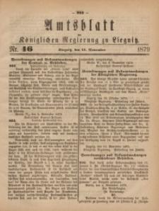 Amts-Blatt der Königlichen Regierung zu Liegnitz, 1879, Jg. 69, Nr. 46