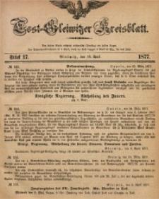 Tost-Gleiwitzer Kreisblatt, 1877, Jg. 35, St. 17