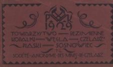 """Towarzystwo Bezimienne Kopalń Węgla """"Czeladź"""" Piaski Sosnowiec. Société Anonyme des Mines de Czeladz (okładka albumu)"""