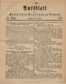 Amts-Blatt der Königlichen Regierung zu Liegnitz, 1881, Jg. 71, Nr. 23