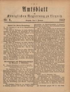 Amts-Blatt der Königlichen Regierung zu Liegnitz, 1882, Jg. 72, Nr. 1
