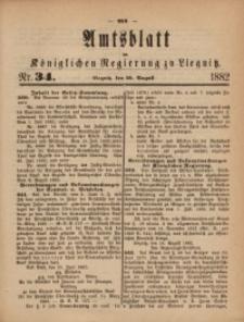 Amts-Blatt der Königlichen Regierung zu Liegnitz, 1882, Jg. 72, Nr. 34