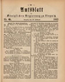 Amts-Blatt der Königlichen Regierung zu Liegnitz, 1883, Jg. 73, Nr. 6