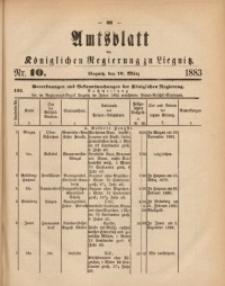 Amts-Blatt der Königlichen Regierung zu Liegnitz, 1883, Jg. 73, Nr. 10