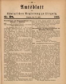 Amts-Blatt der Königlichen Regierung zu Liegnitz, 1883, Jg. 73, Nr. 28