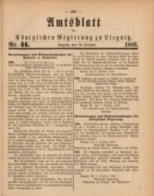 Amts-Blatt der Königlichen Regierung zu Liegnitz, 1883, Jg. 73, Nr. 41
