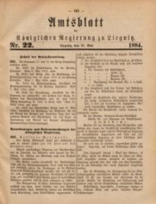 Amtsblatt der Königlichen Regierung zu Liegnitz, 1884, Jg. 74, Nr. 22